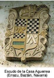 Piedra armera de la Casa Aguerrea (Errazu, Baztán, Navarra). Pulsa encima si quieres más información sobre la casa