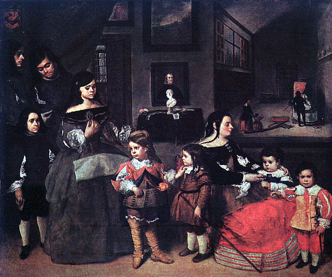 La familia del pintor Juan Bautista Martínez del Mazo. (1665) Museo de Historia del Arte de Viena