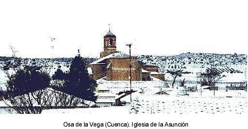 Osa de la Vega (Cuenca). En su iglesia de la Asunci�n, de origen g�tico, se venera un conocido lienzo del Sant�simo Rostro de Jes�s.